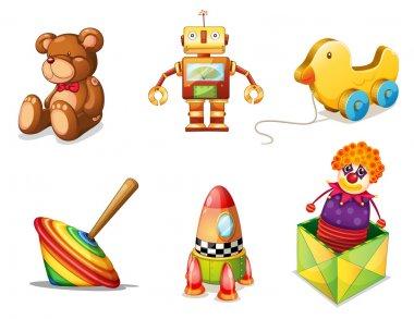 various toys