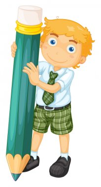 a boy with pencil