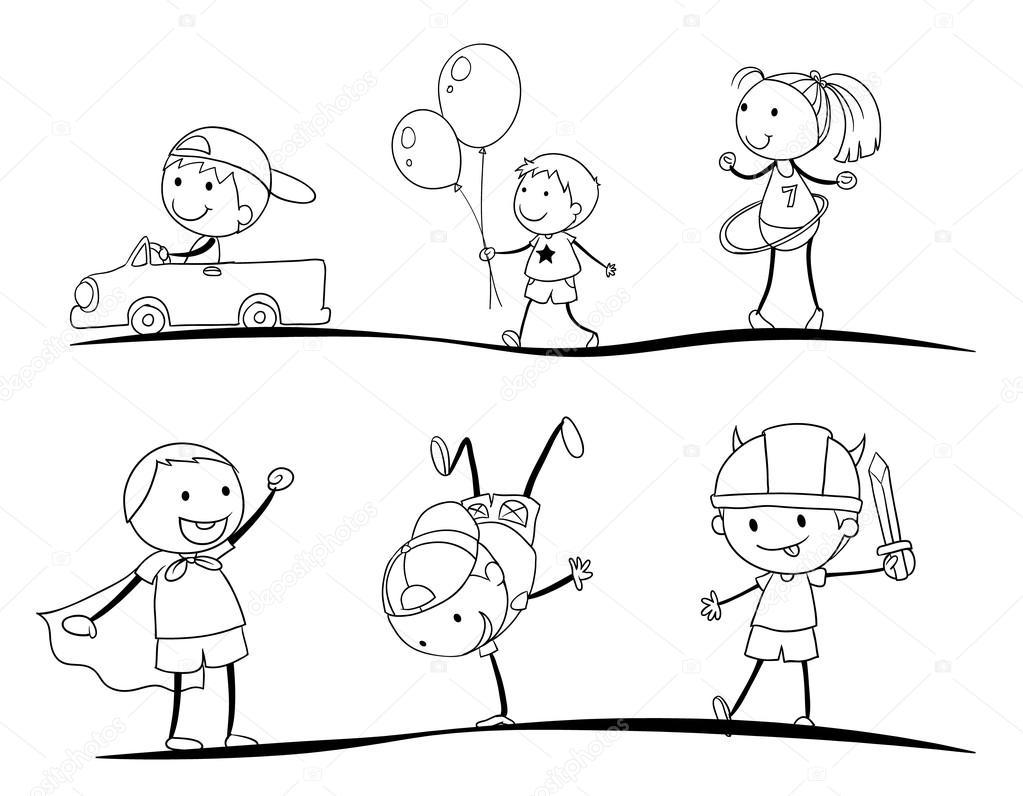 dibujos para niños — Vector de stock © interactimages #13171596