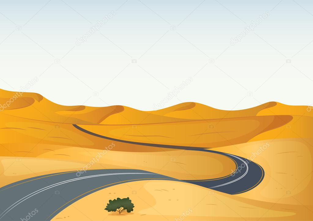 yellow landscape and a road