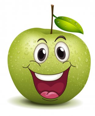 happy apple smiley