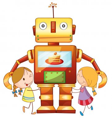 girls and robot