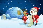 Fotografie santa claus and reindeer