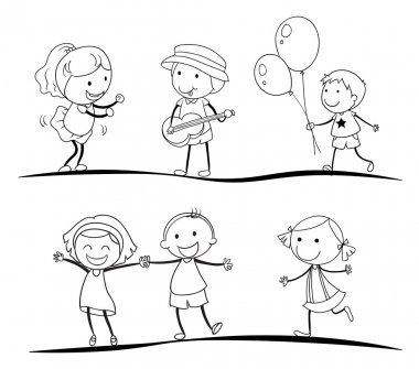 sketches of kids