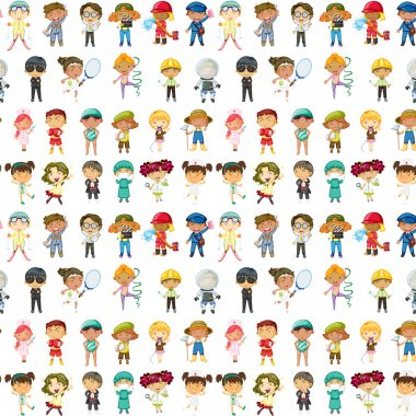 Illustration of kids on a white background clip art vector