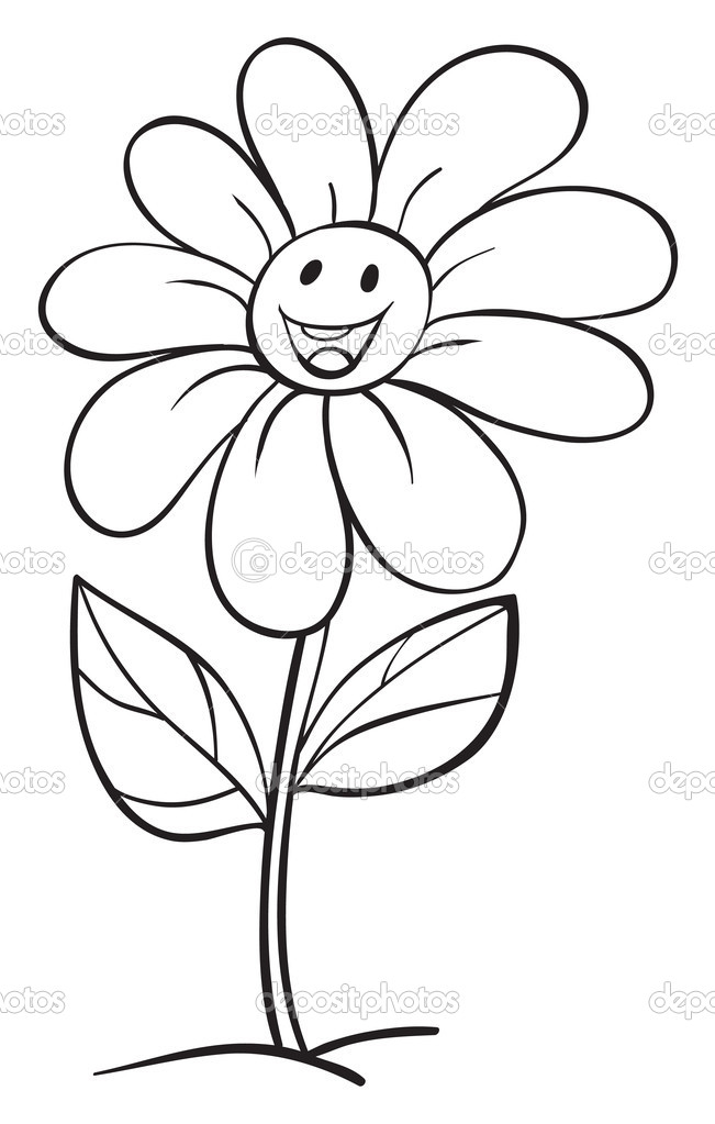 Stock Illustration A Flower And A Pot on 1272