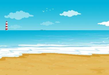 "Картина, постер, плакат, фотообои ""океан и светлый дом "", артикул 14173152"