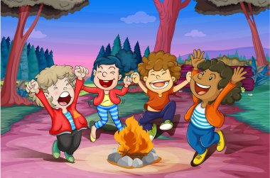 fire camp of kids