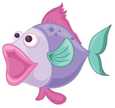 a purple fish