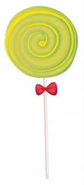 a green candy