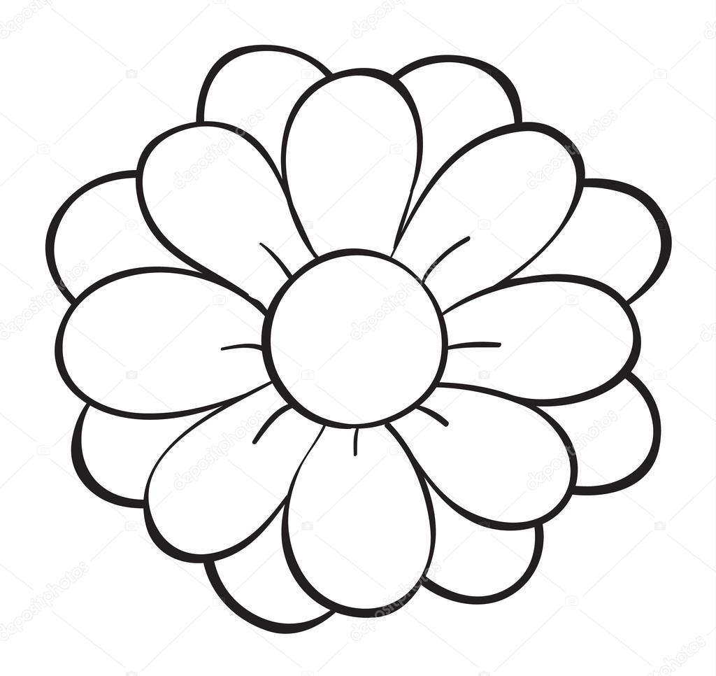 Flower Dibujo: Stock Vector © Interactimages #14372185
