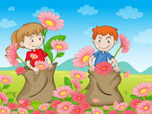 Děti a květiny