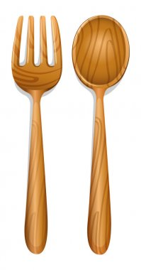 a wooden spoon