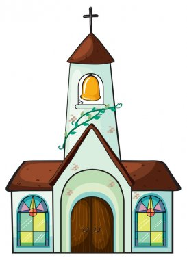 Illustration of a church on a white background stock vector