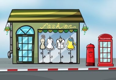 A fashion store and a callbox