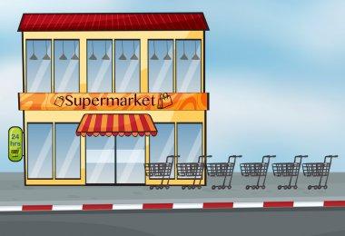 A supermarket near the street