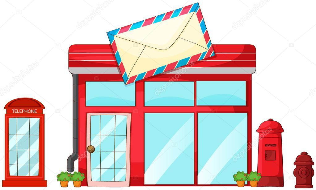Im genes una oficina postal animada una oficina de for Telefono oficina de correos