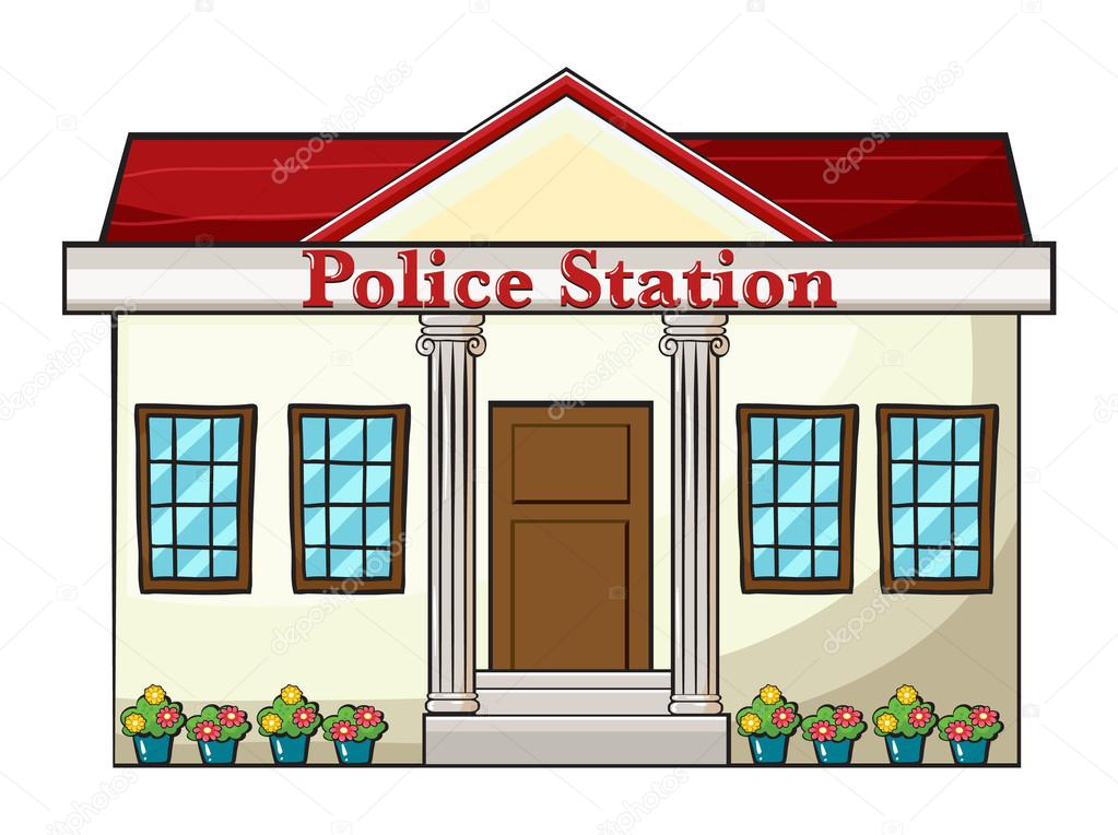 a police station stock vector  u00a9 interactimages 18007065 police station clip art image police station building clipart