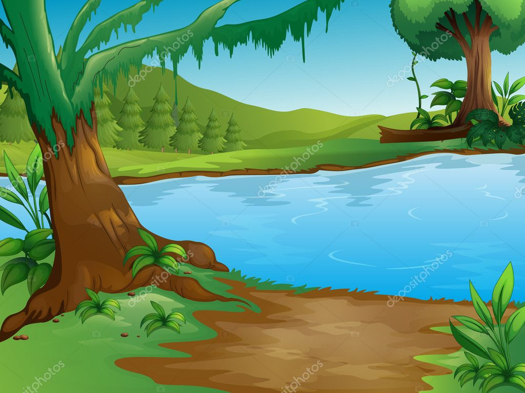A River Stock Vector 169 Interactimages 18069369