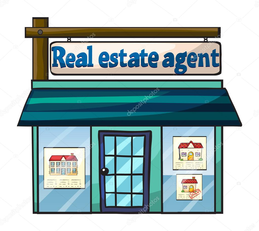 Real estate agent's office — Stock Vector © interactimages ...