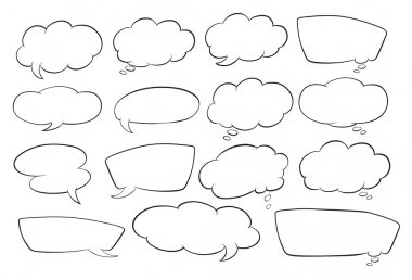 Various shapes of speech bubbles