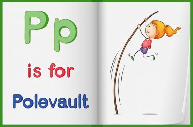 A picture of pole vault in a book