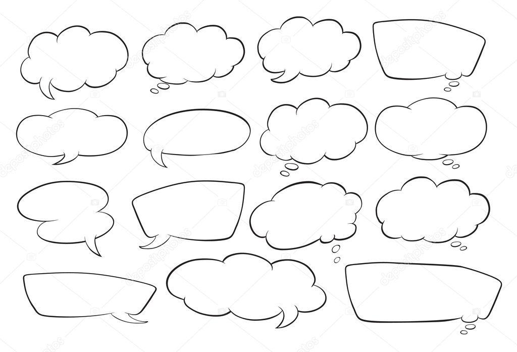 Various shapes of speech bubbles