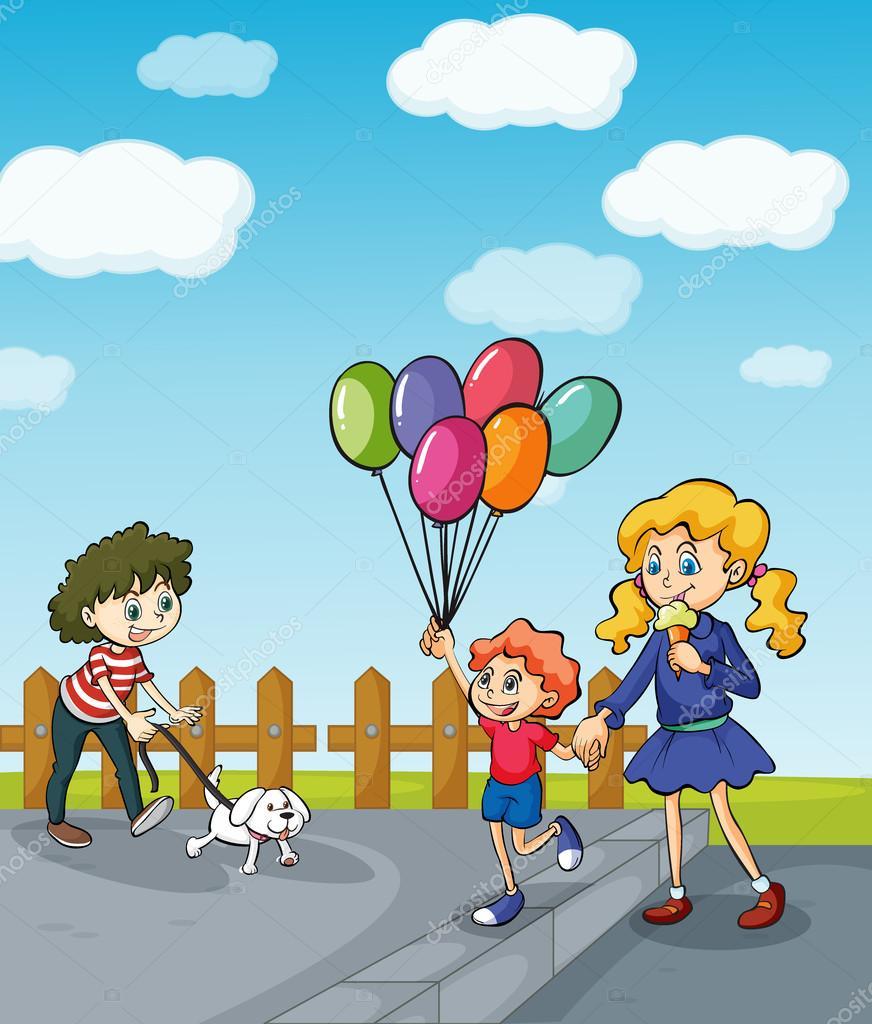 Девочка гуляет в парке картинки для детей