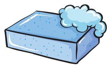 A blue soap
