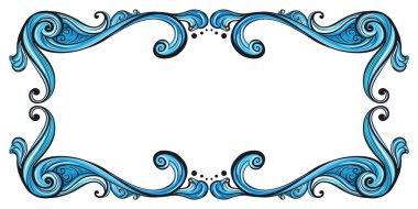A blue border line