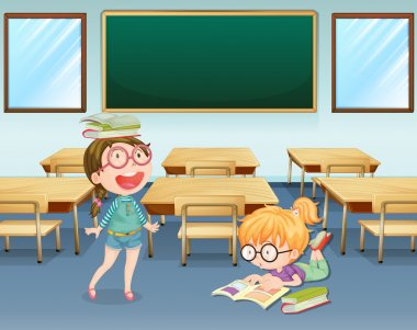 Student inside the classroom