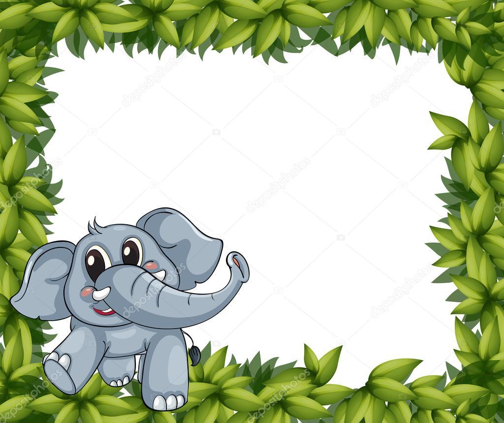 Un sonriente marco elefante y planta archivo im genes - Marco de fotos multiple ...