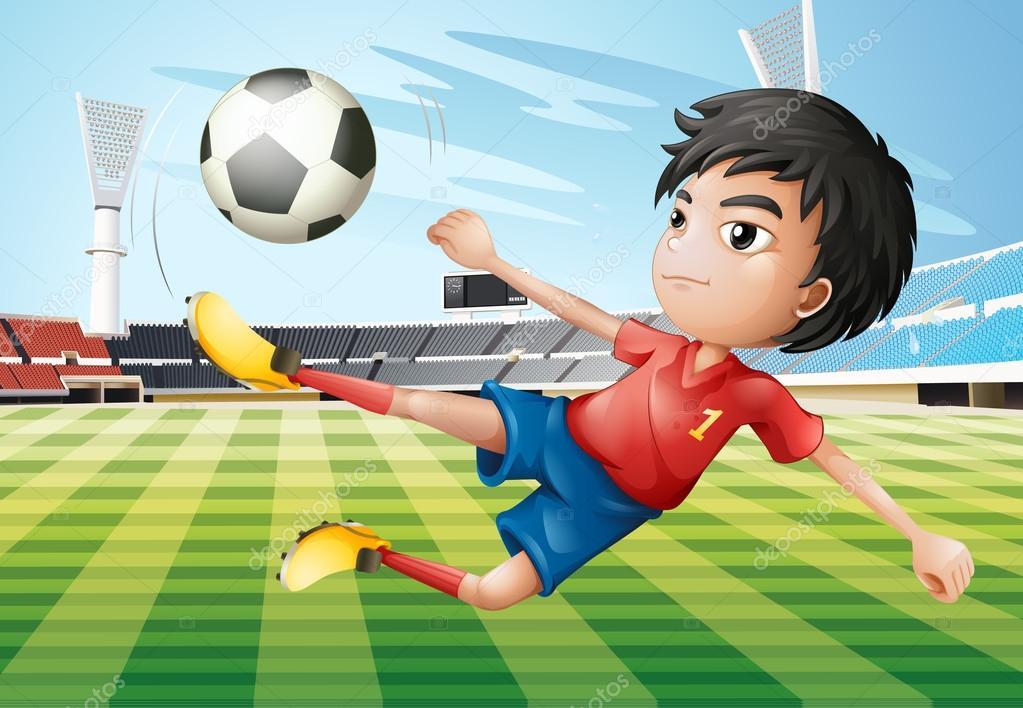 Imagenes Nino Jugando Futbol Un Nino Jugando Futbol En El Campo