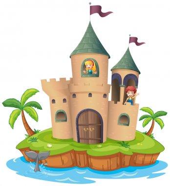 A castle in an island