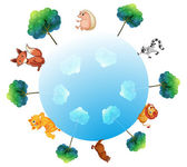reprezentace země se zvířaty a rostlinami