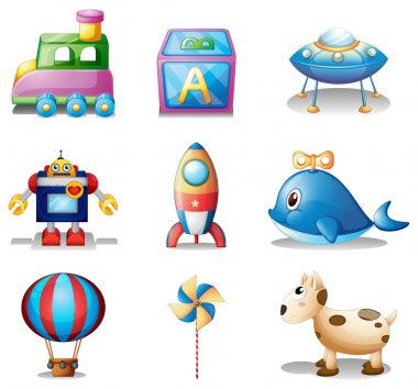 Illustration of the toys for children on a white background clip art vector