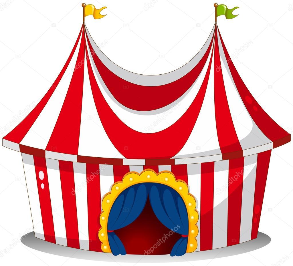 A circus tent u2014 Stock Vector  sc 1 st  Depositphotos & A circus tent u2014 Stock Vector © interactimages #23029462