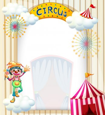 A clown in the circus