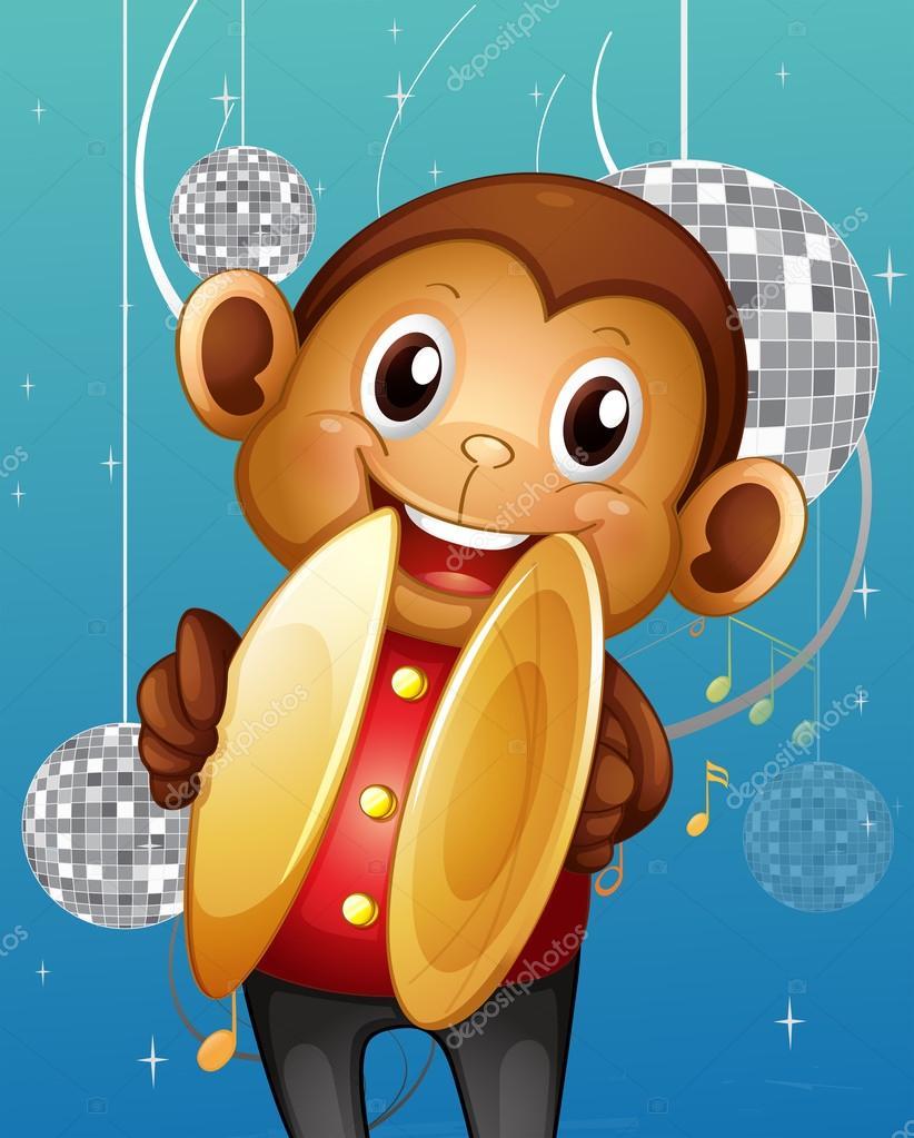 Картинка с обезьянкой в голове, открытки для учителей