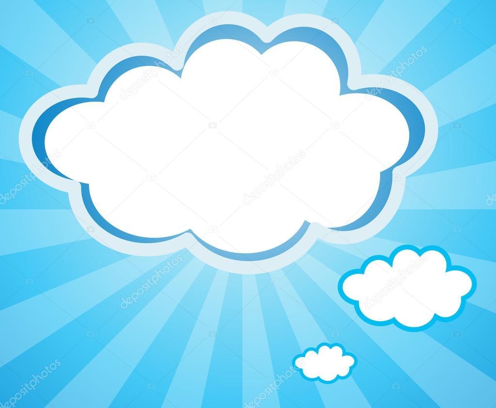 leere Wolke Vorlagen — Stockvektor © interactimages #23031556