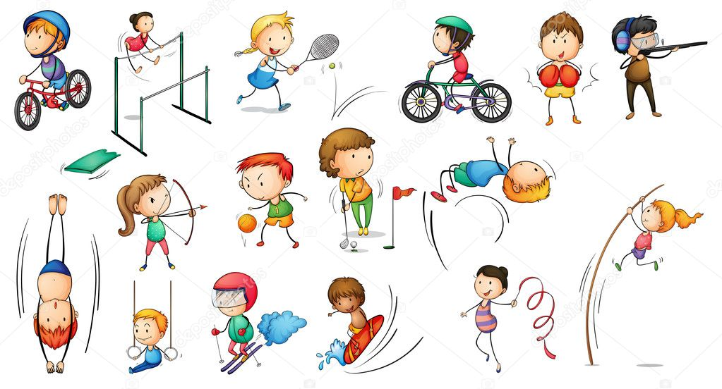 Different sports activities