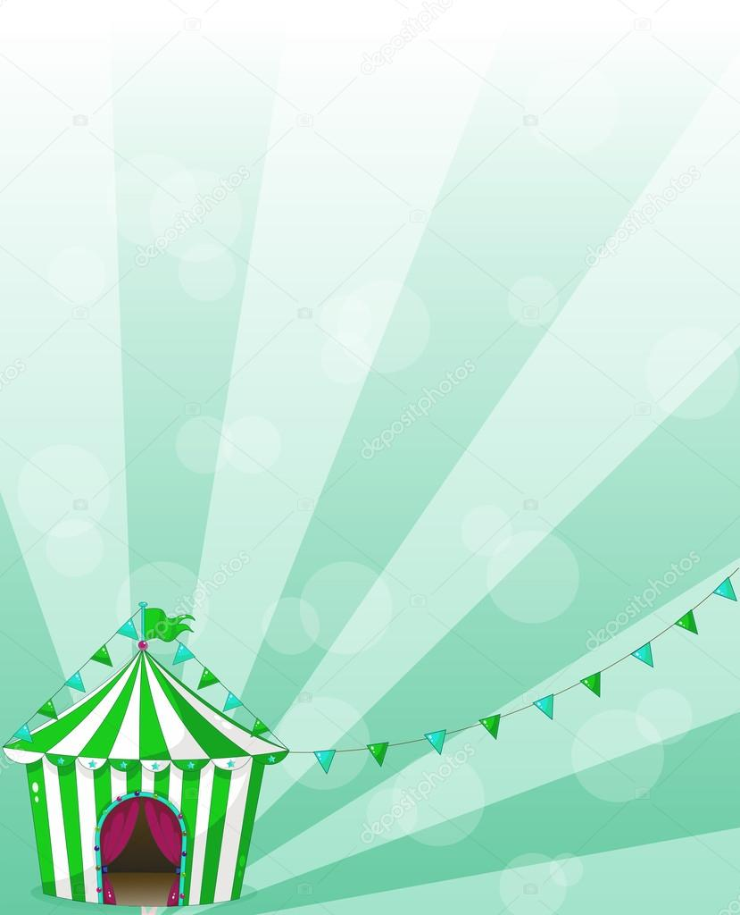 Un chapiteau de cirque vert dans un design de fond d 39 cran image vectorielle interactimages - Dessin d un chapiteau de cirque ...