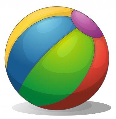 A colorful beach ball