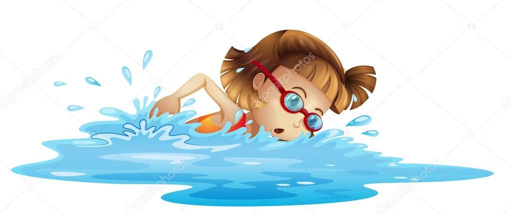 una ni u00f1a peque u00f1a piscina vector de stock clipart swimming pools clip art swimming people