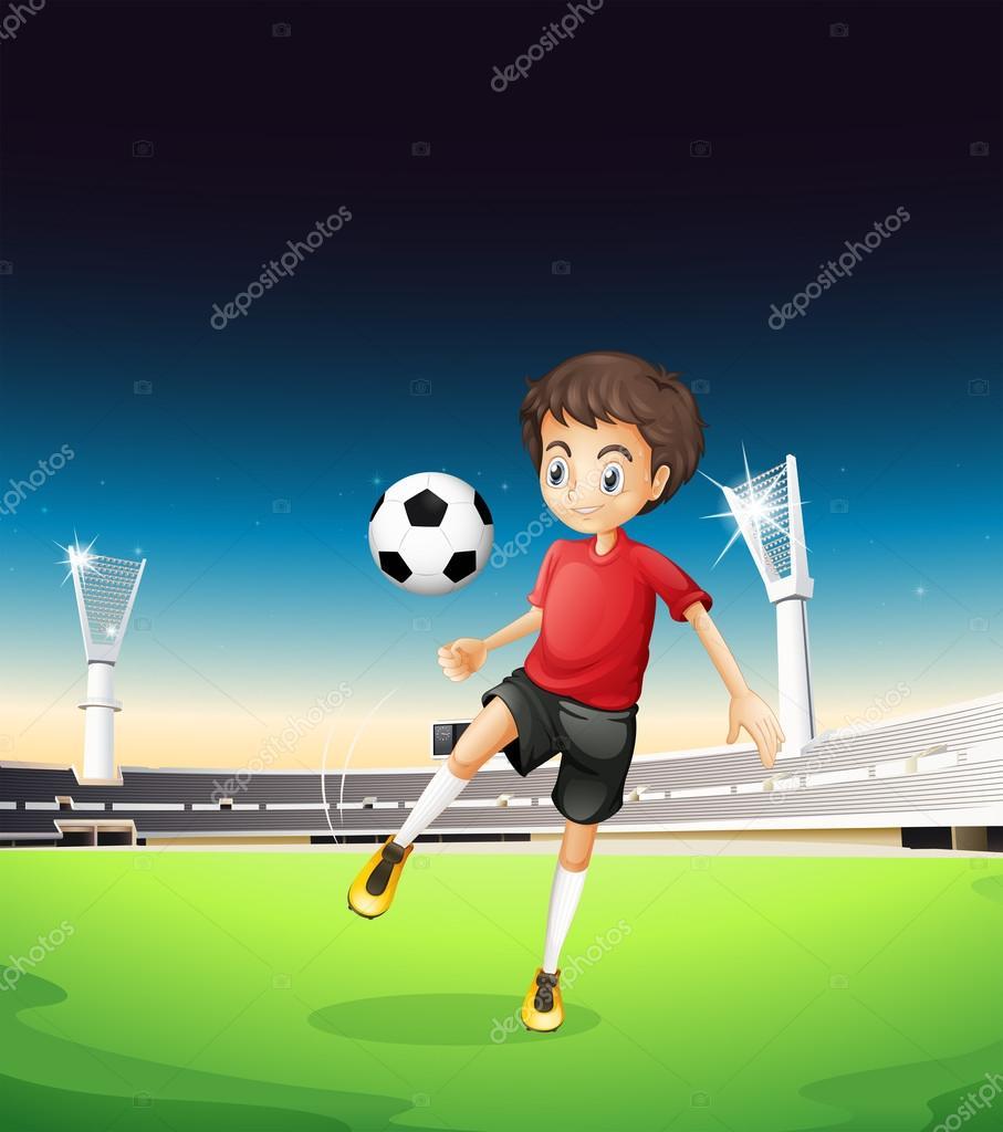 Imagenes Un Muchacho Jugando Futbol Un Nino Jugando Futbol Solo