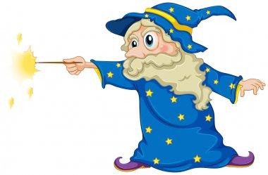 A wizard holding a magic wand