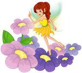 Víla na zahradu s čerstvými květinami