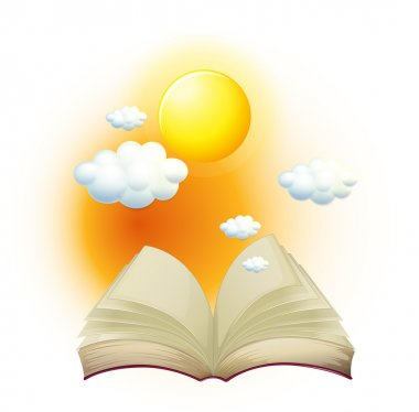 A book with a story about the sun