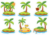 Islands with different signs