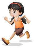 un adolescente jogging